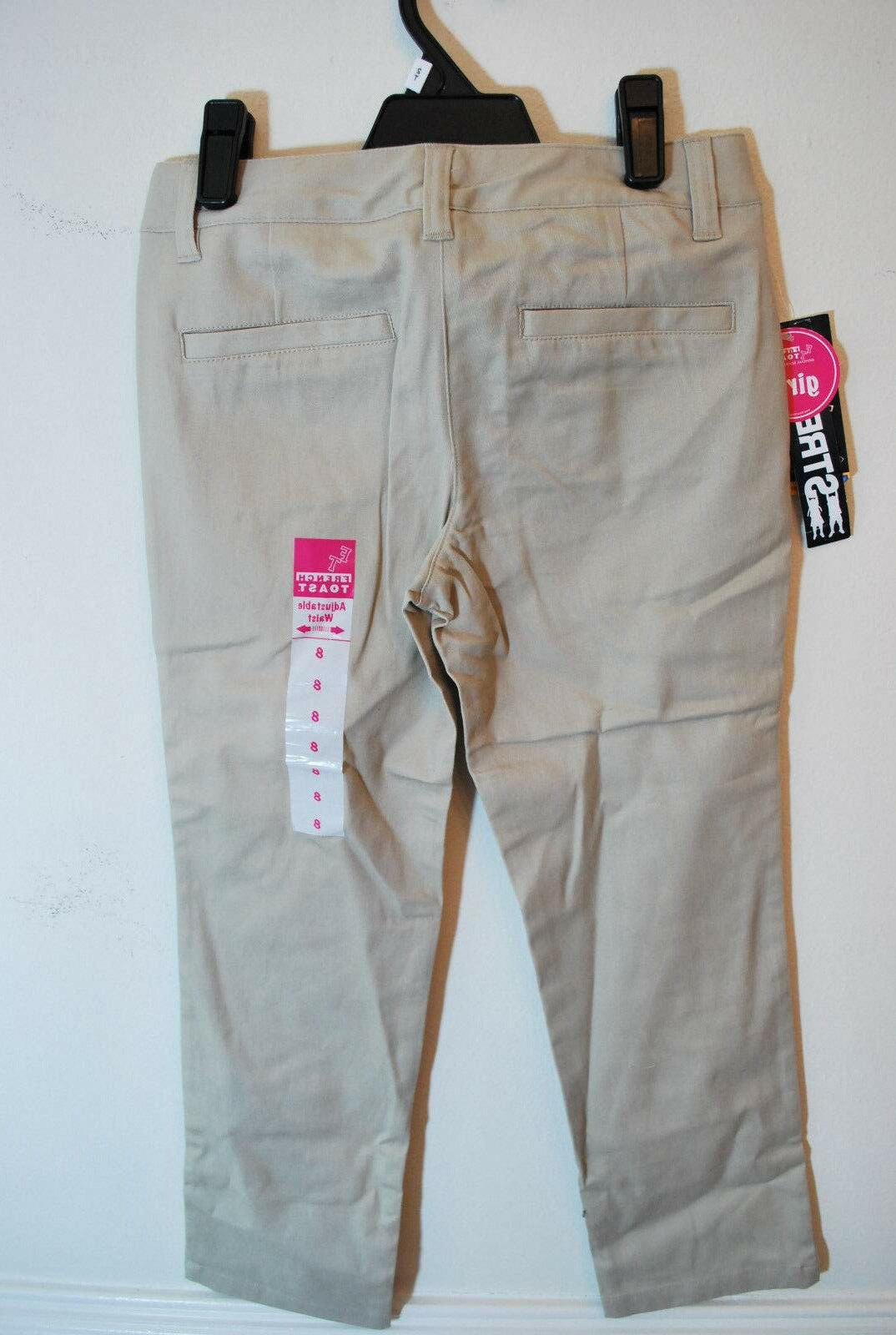 NWT Toast Girls Khaki Uniform Pants Stretch