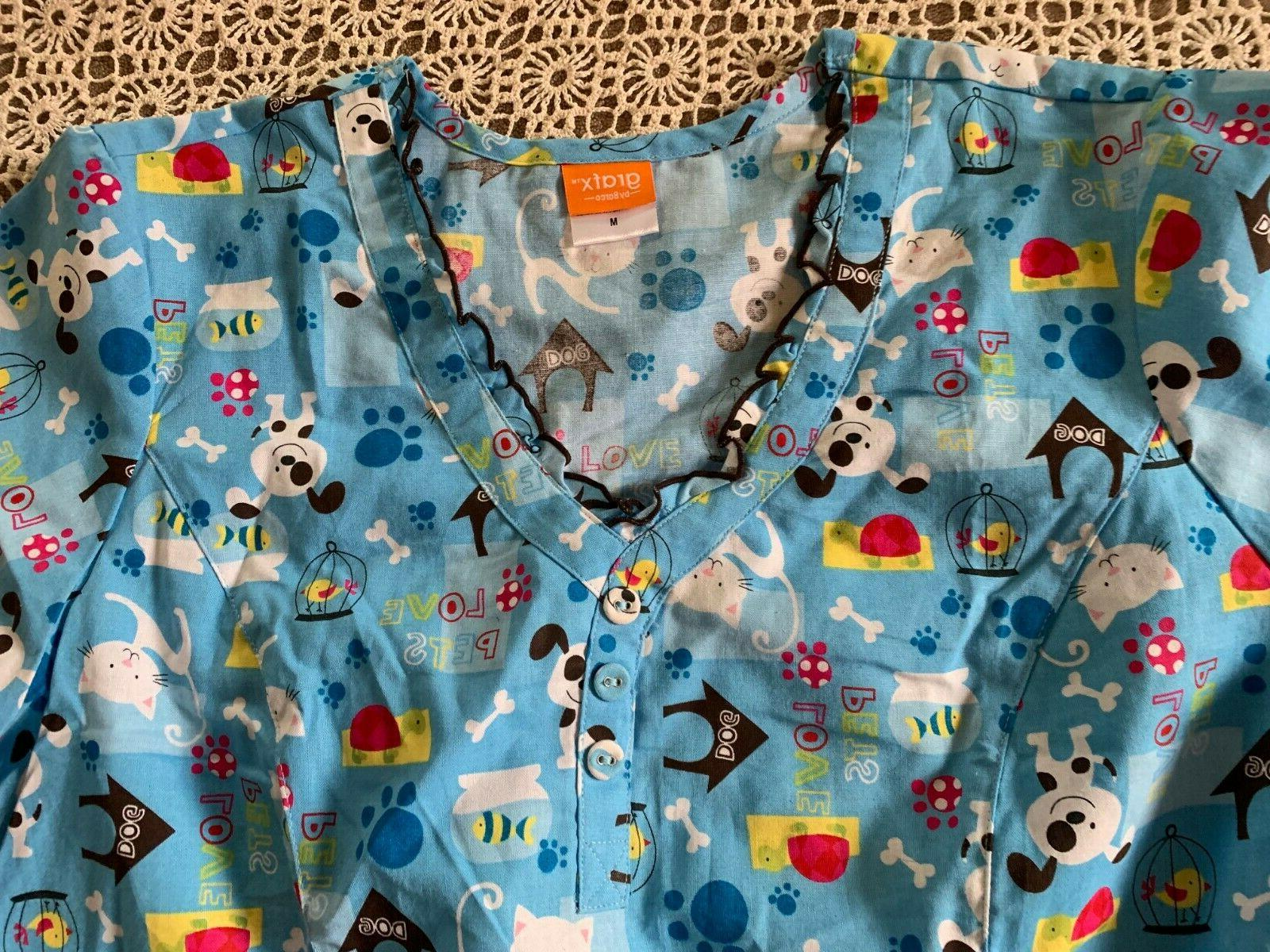 NWT GRAFX BY BLUE LOVE PETS COTTON V