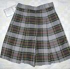 NWT Becky Thatcher Gray Elderwear Girls Uniform Plaid Culott