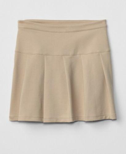 nwt kids uniform pleaded skirt khaki extra