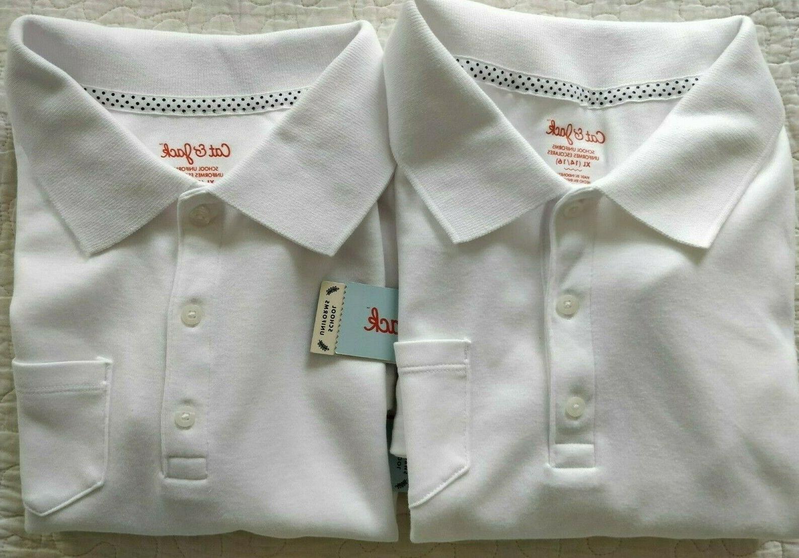 nwt lot of 2 girls uniform shirts