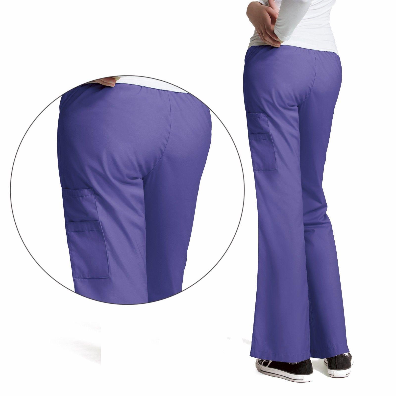 Women's V-Neck Flare Leg Pant