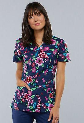 prints women s short sleeve mock wrap