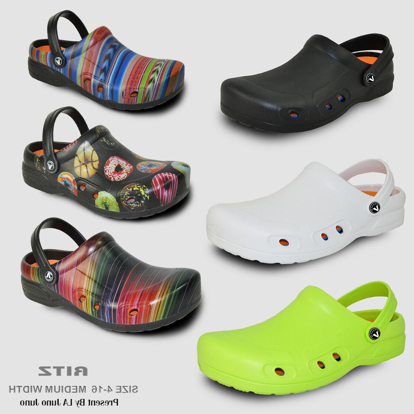 VANGELO Professional Unisex Slip Resistant Clog RITZ Black a