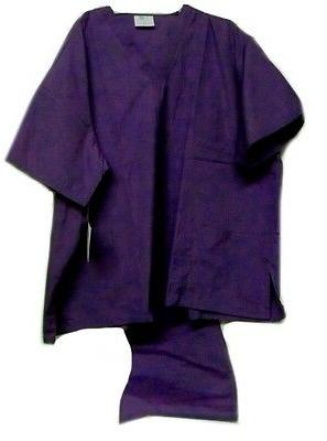 Purple Scrub Set V Neck Top Drawstring Waist Pants 3XL Adar