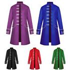 Retro Men Frock Coat Steampunk Long Jacket Medieval Tailcoat
