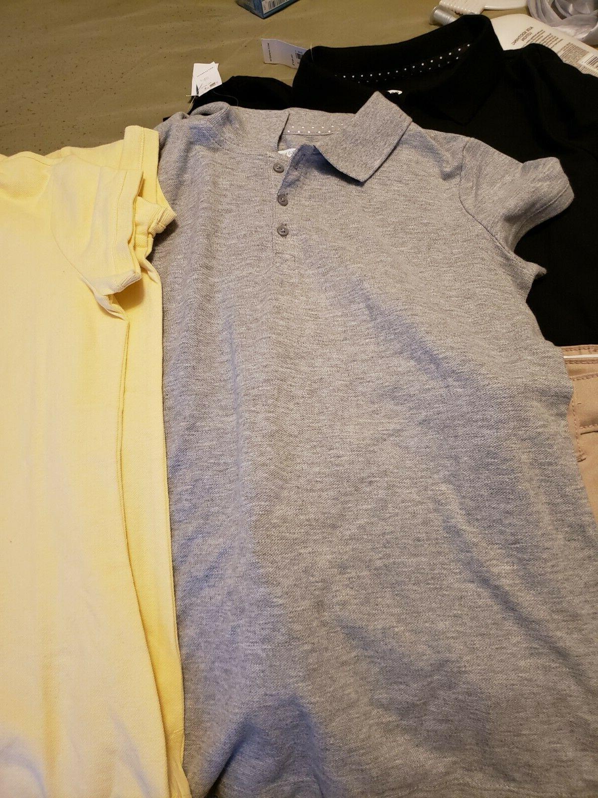 School uniform 2 Grey shirts, 1 black shirt 2 khaki shoes