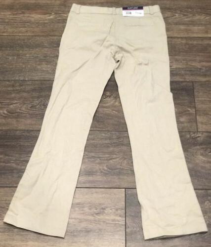 Nautica Uniform Girls Pants Khaki Size 10 Adjustable Waist NWT MSRP $36