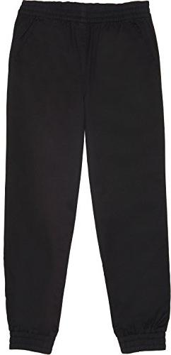 French Toast School Uniform Boys Pull-On Jogger Pants, Black