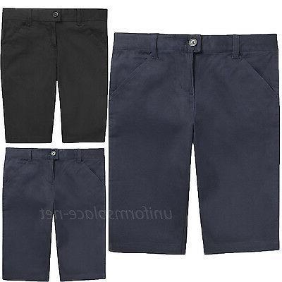 school uniforms shorts girls bermuda short adjustable
