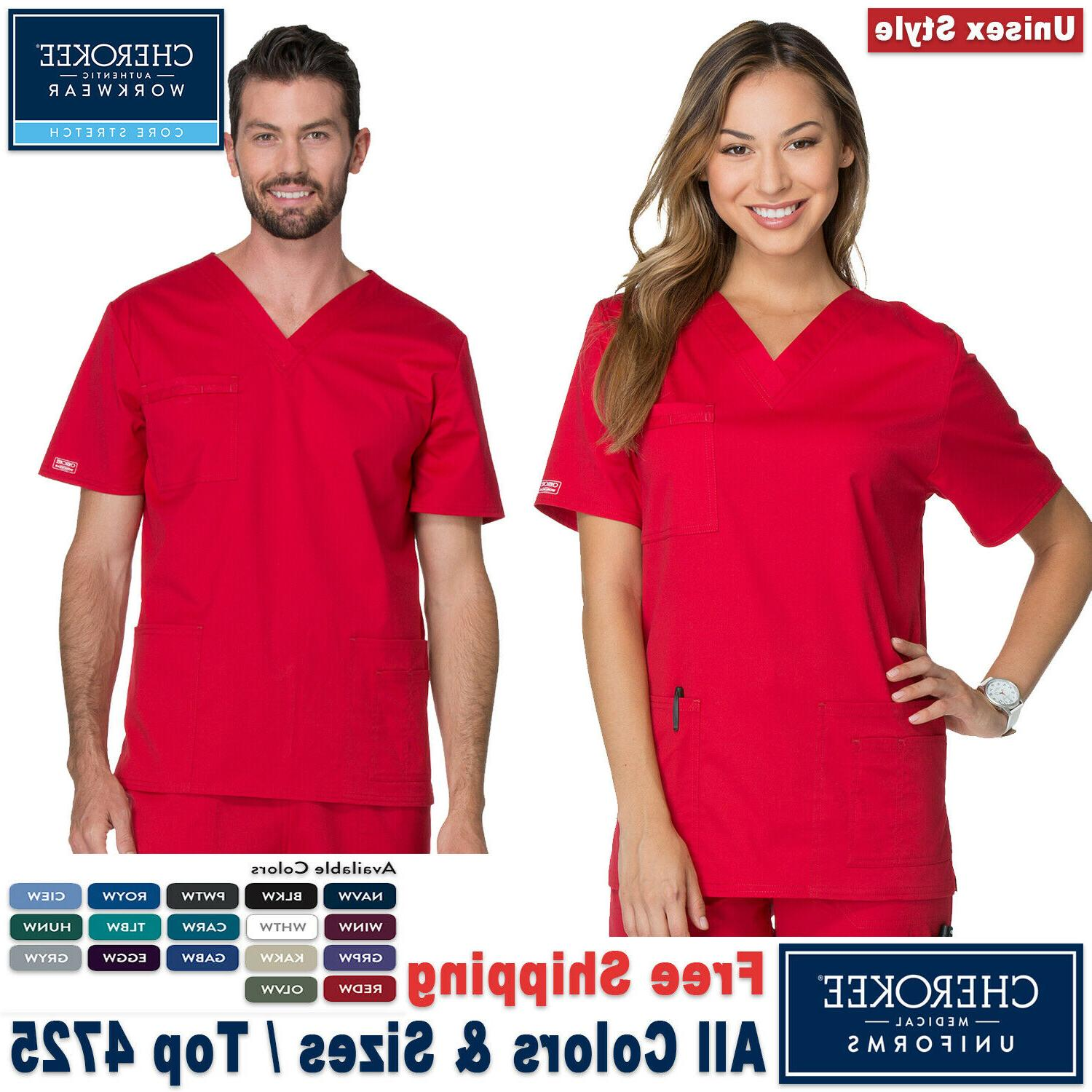 Cherokee Scrub New Core Stretch Unisex Medical Uniform V-Nec