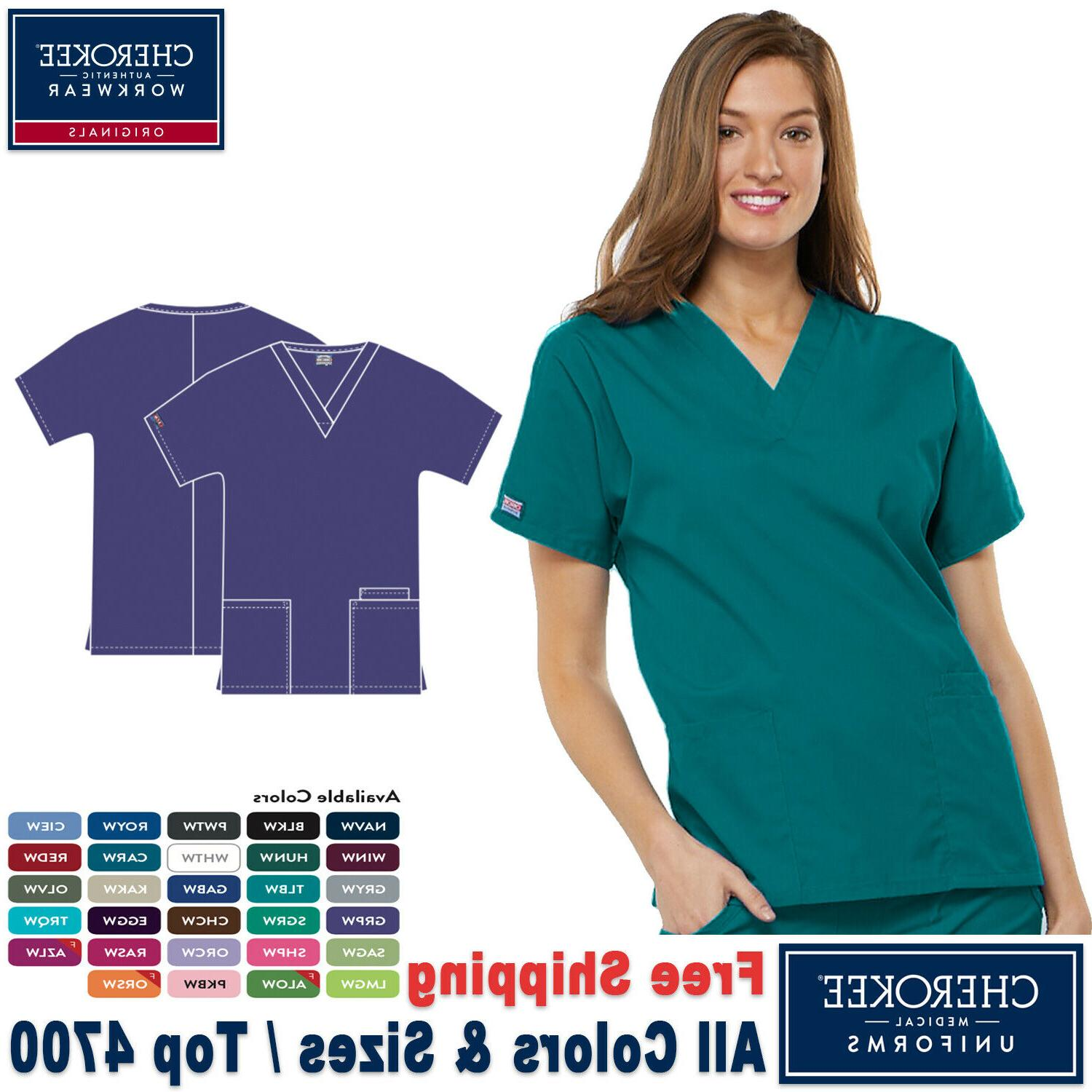 Cherokee Scrubs ORIGINALS Women's Medical Classic Fit V-Neck