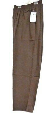 Scrub Pants 2XL Adar Brown Elastic Waist Uniforms Nursing La