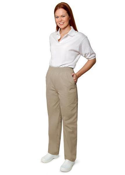 Khaki Scrub Pants 3XL Adar Elastic Waist Adar Uniforms Nursi