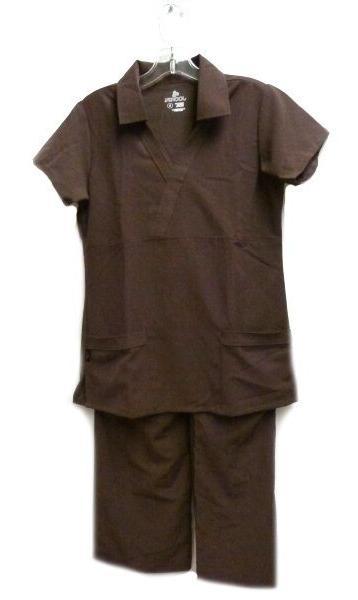 Jockey Scrub Set Collar Top Elastic Waist S Uniform Scrub Pa