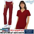 Cherokee Scrub Set FLEXIBLES Medical Uniform V-Neck Panel To