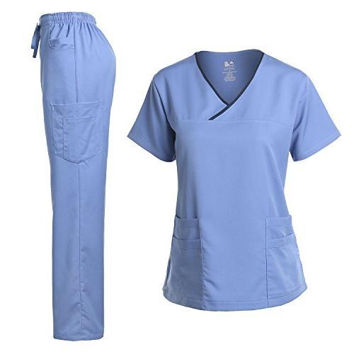 scrub set stretch pants ceil