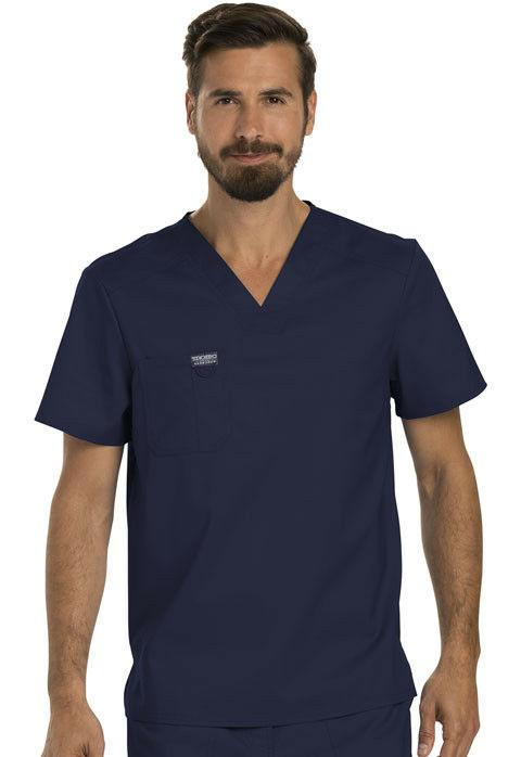 Scrubs Cherokee Workwear Men V Neck Top WW690 NAV Navy Free