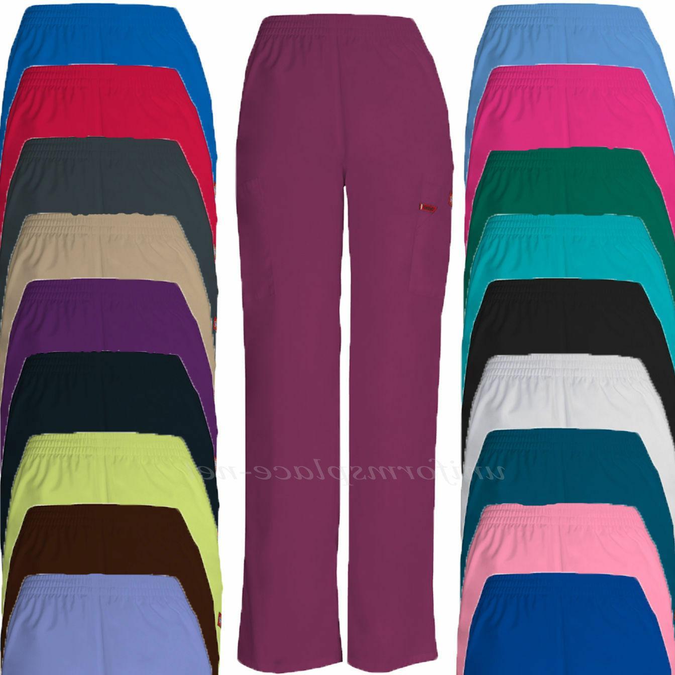 Dickies Scrubs Pants Women EDS Cargo Pocket Uniform Pant Ela