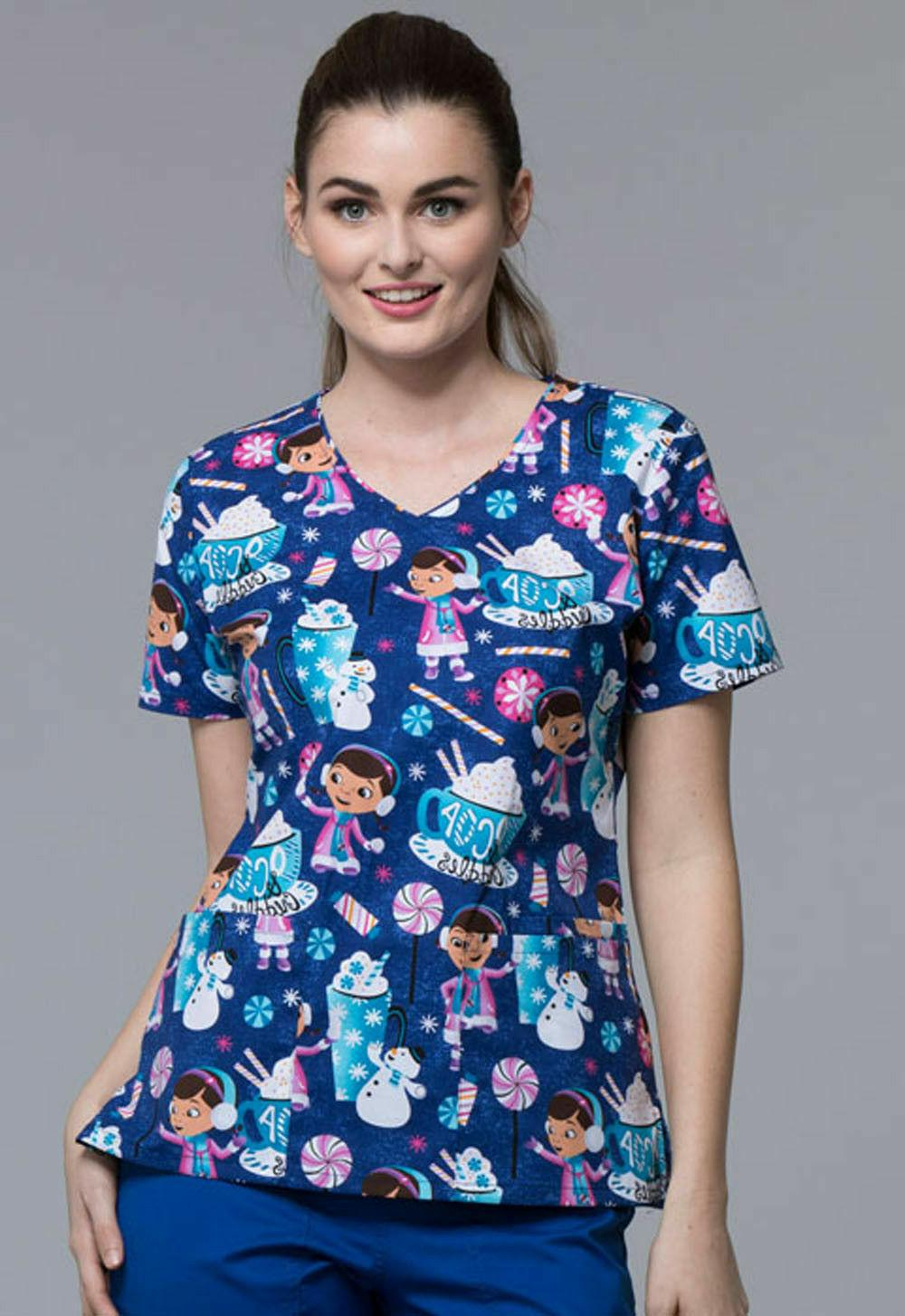 scrubs tooniforms disney v neck tops medical