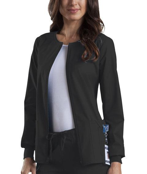 Scrubs Cherokee Workwear Core Stretch Jacket 4315 Black FREE