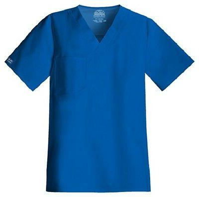 Cherokee Scrubs Workwear Men's Scrub Top 4743 Royal Blue ROY