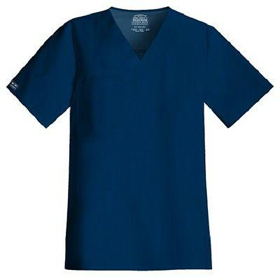 Cherokee Scrubs Workwear Men's Scrub Top 4743 Navy NAVW Cher