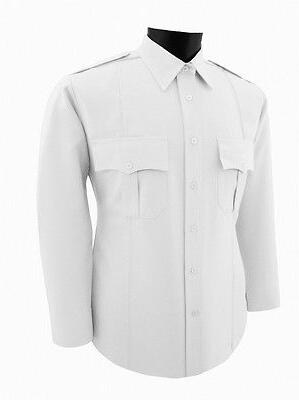 security guard police white polyester uniform shirt