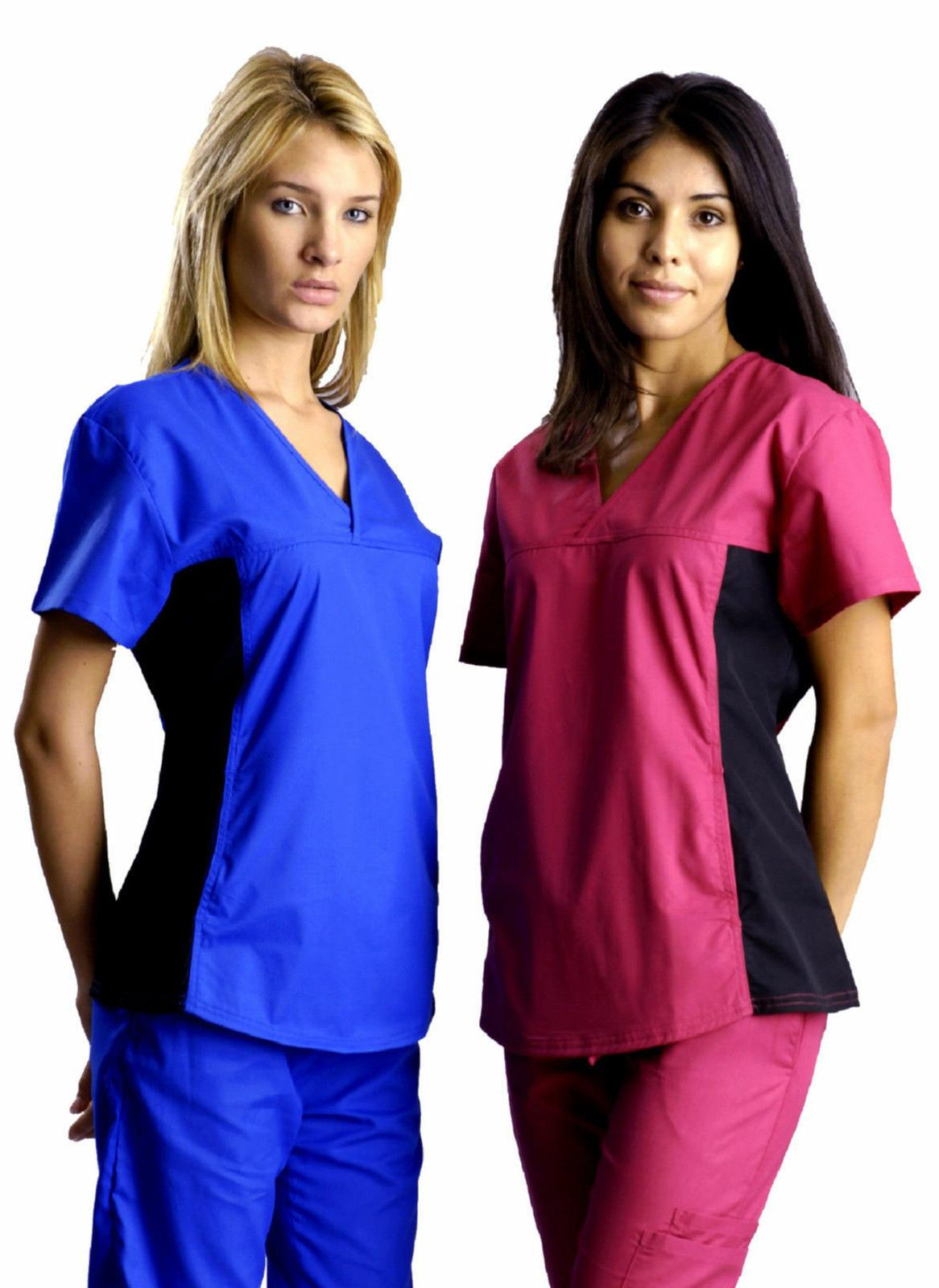stylish womens nursing scrub set w black