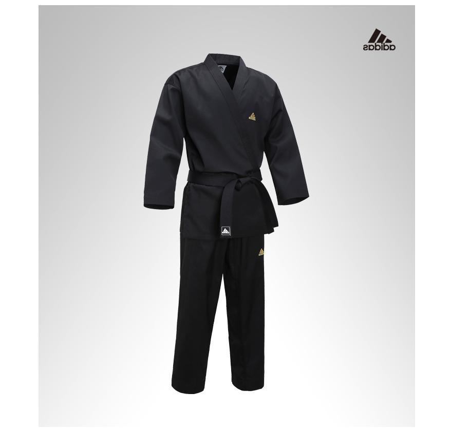 ADIDAS TKD Taekwondo Uniform Black Open Dobok Men's Champion
