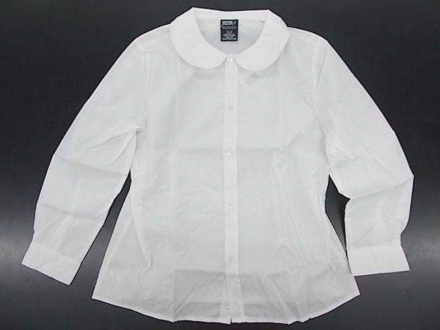 toddler and girls uniform white shirt w