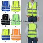 Traffic Safety Fluorescent Waistcoat Reflective Vest Uniform