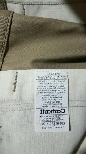Carhartt Twill Work Wear Mens Pants 36x32 NEW