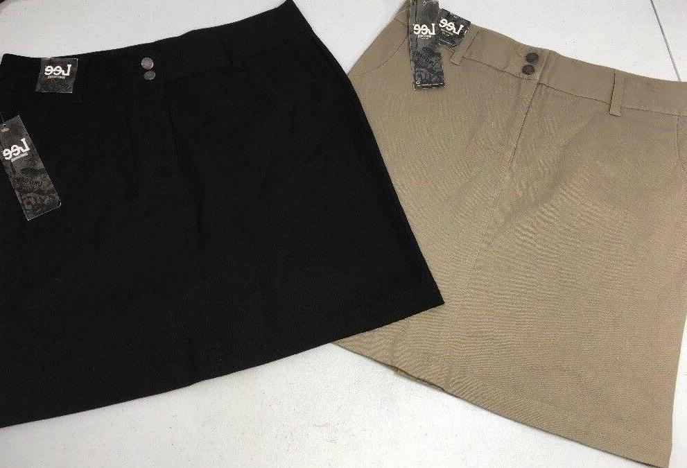 Lee Uniforms Classic Skirt Lot of 2 Juniors 7 Black Stretch