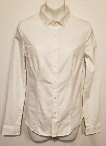 Lee Uniforms Juniors Sleeve Stretch Oxford White, Small
