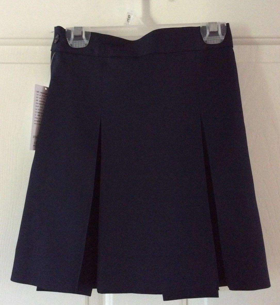 uniforms navy blue skirt girl 6c nwt