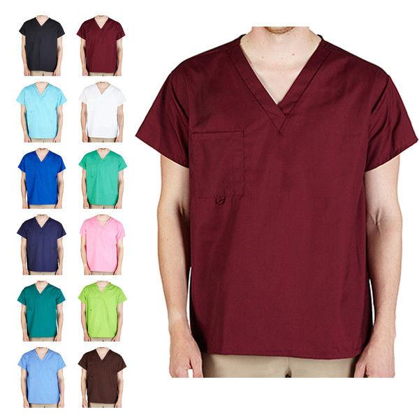Unisex Men/Women Modern V-Neck Scrub Top Hospital Medical Nu