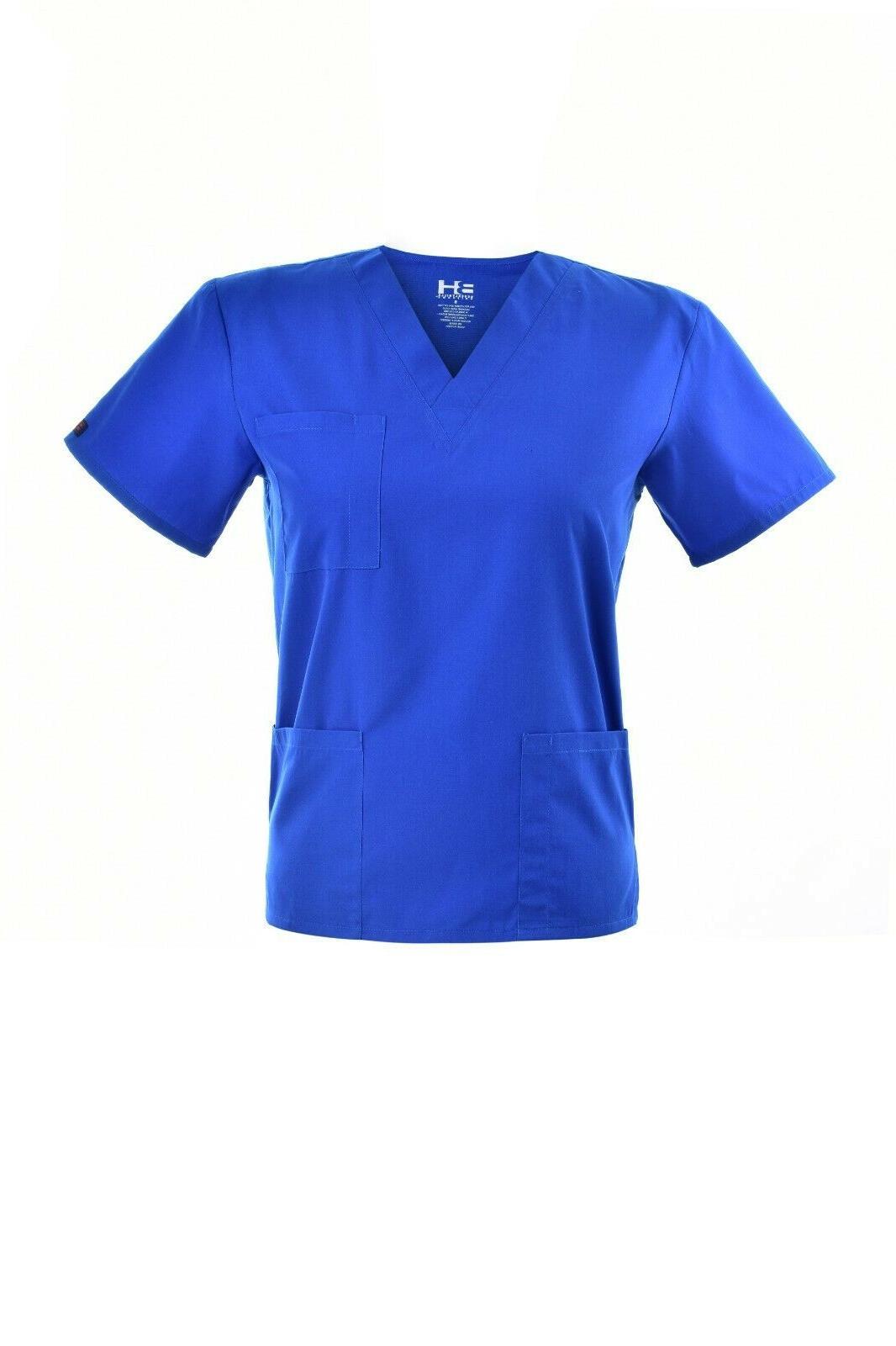 Unisex STRETCH Scrub Solid V-Neck Cargo Pant Men Uniform
