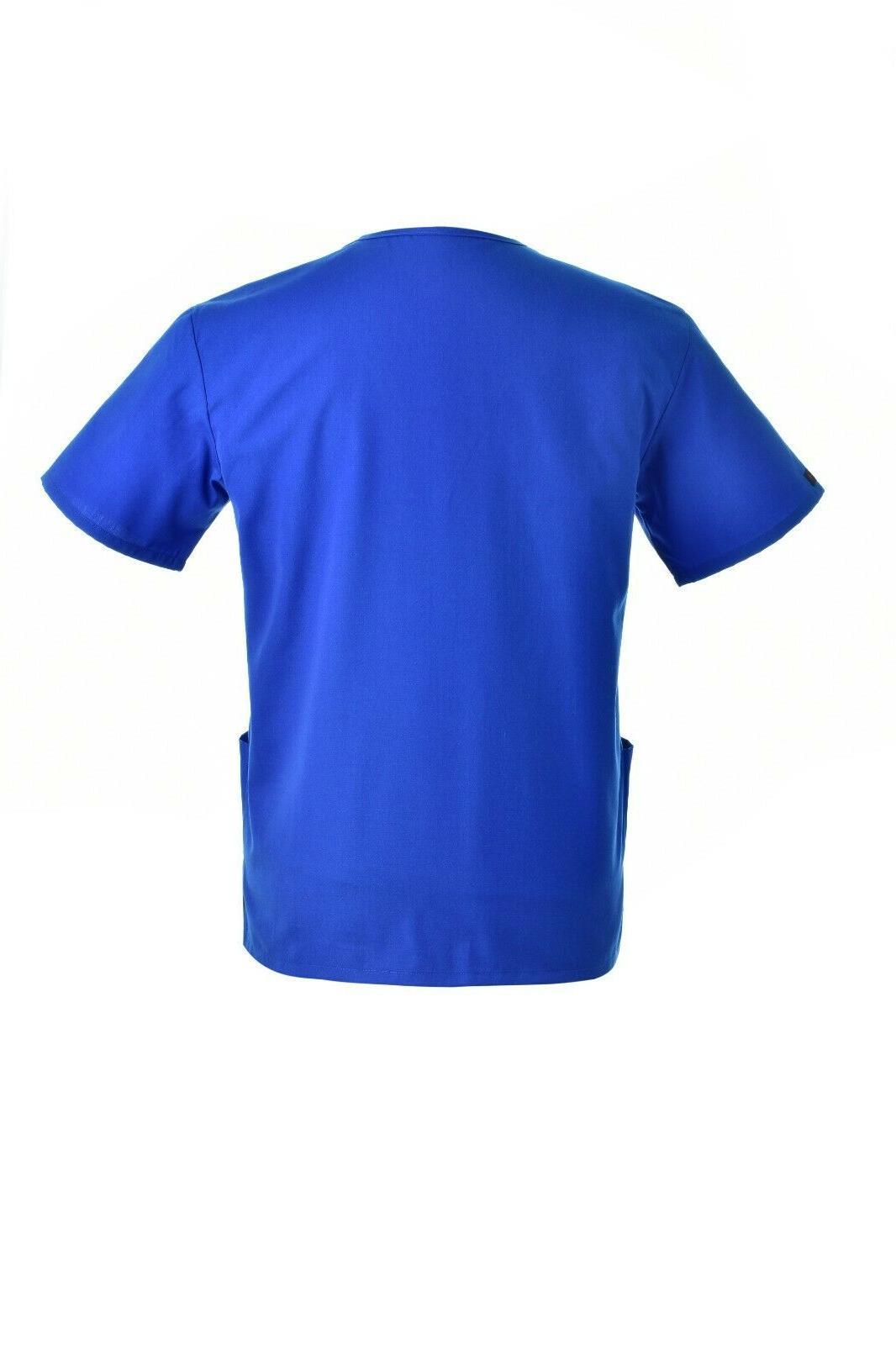 Unisex STRETCH Solid V-Neck Top Pant Men Nursing Uniform