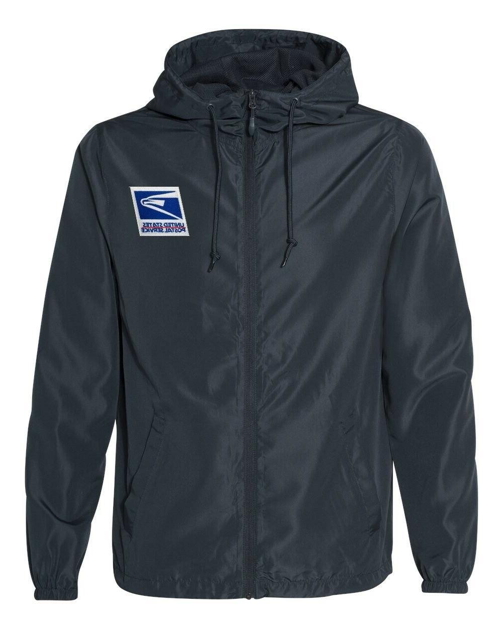 usps postal service rain jacket windbreaker
