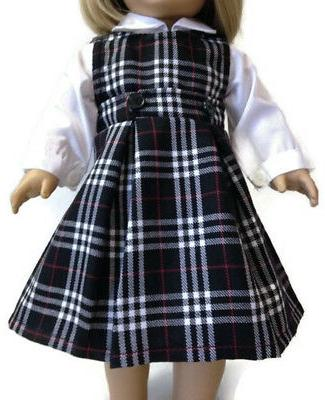 """White Jumper School made 18"""" Doll Clothes"""