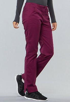 Wine Cherokee Scrubs Workwear Core Stretch Pants 4203