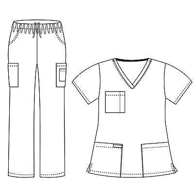 Dagacci Uniform and Scrub Unisex Medical Scrub and