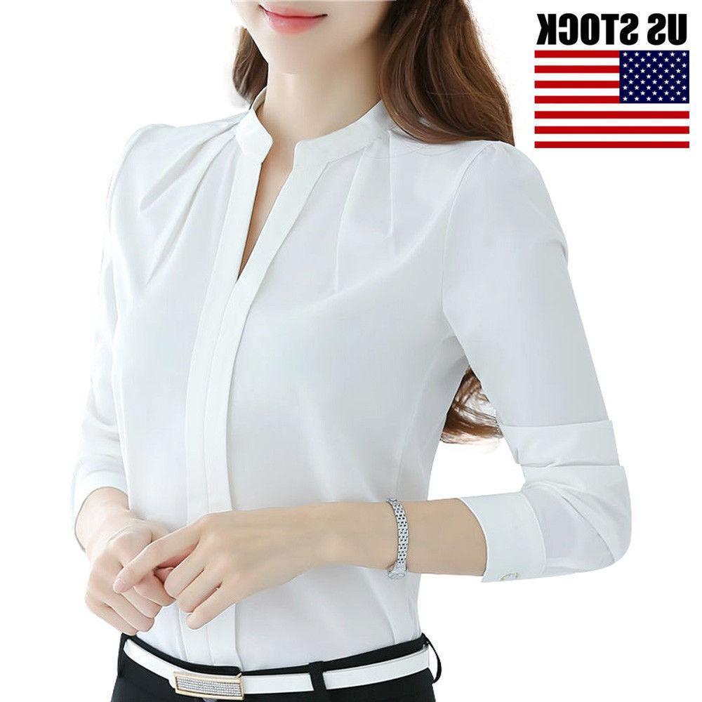 Women Fashion Formal White Work Uniform S-XXL