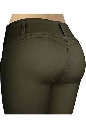 2LUV Women's 3 Stretchy Uniform Pants Skinny Color 1