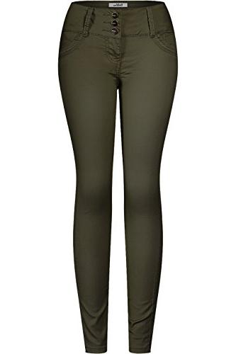 women s 3 button stretchy uniform pants