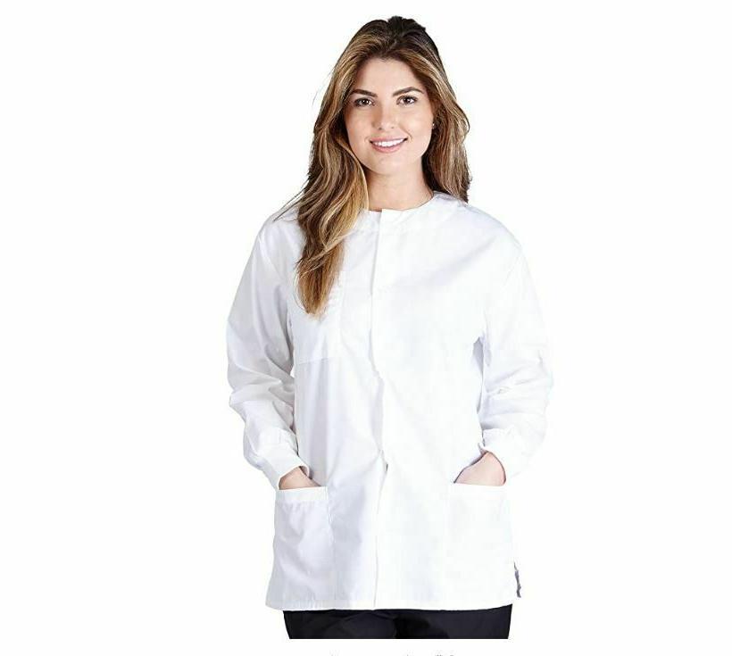 Women's Natural Uniforms 3-Pocket Medical Nursing Warm Up Sc