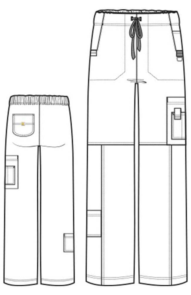 Carhartt Women's Cross-Flex C52110P Utility Cut Cargo Petite Scrub