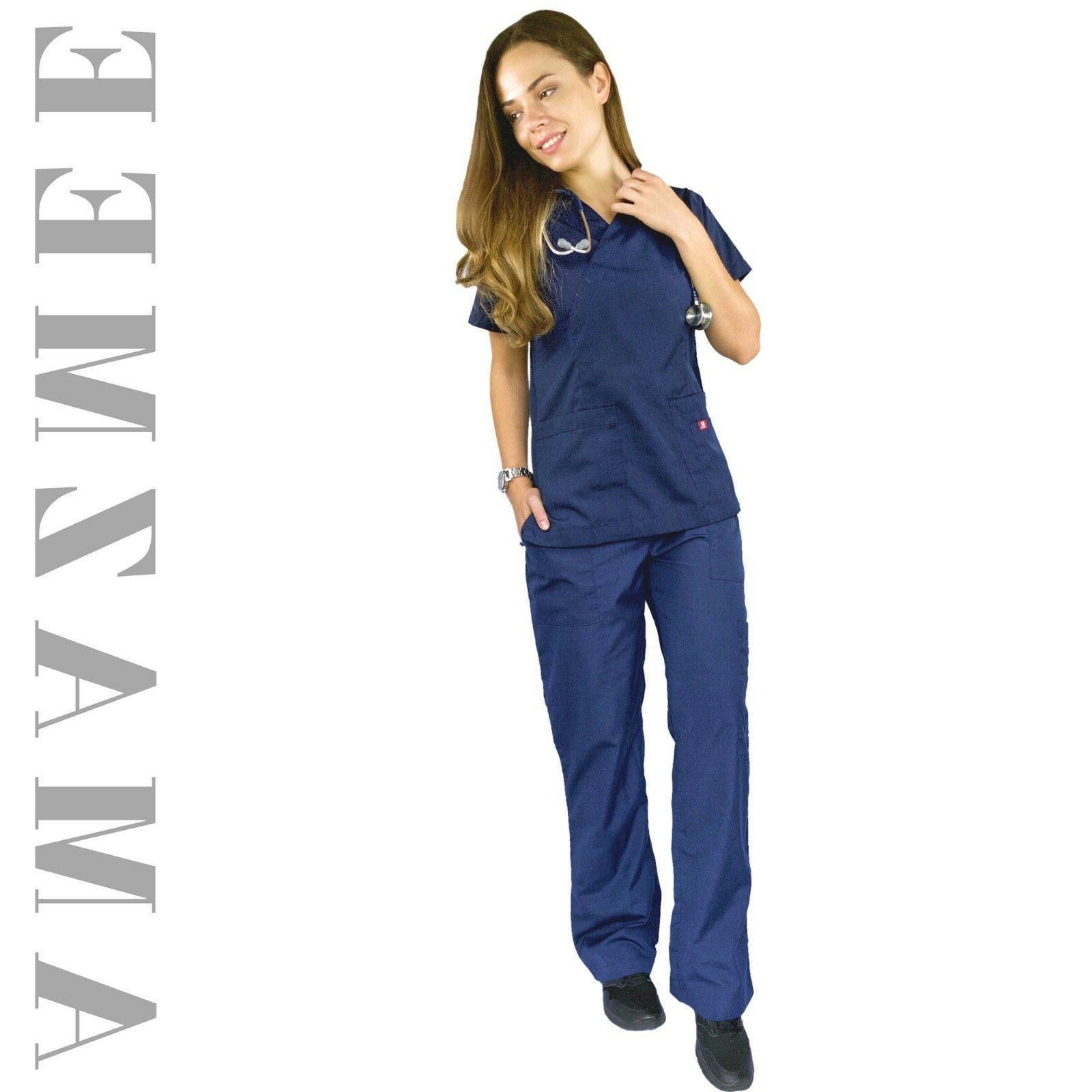 Women's Medical Set V-neck with Pockets