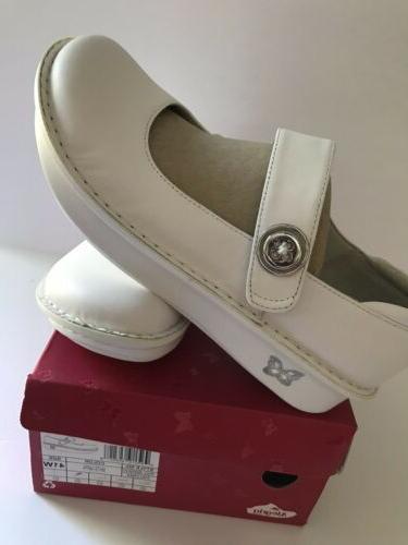 Women's Alegria Paloma Style Pal-600 White Napa 41 Nurse Shoe